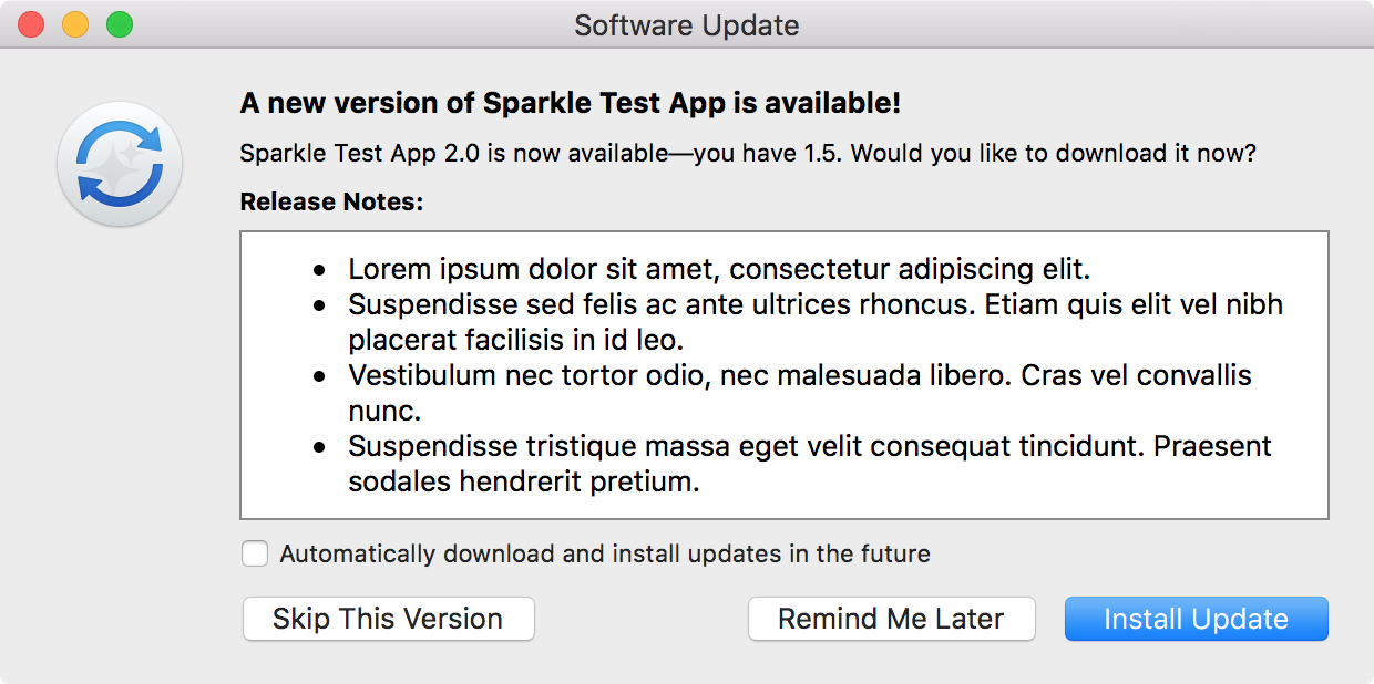 Sparkle: open source software update framework for macOS